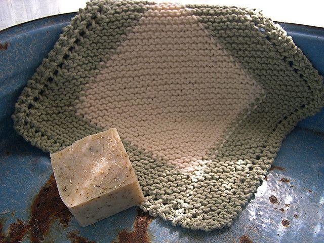 Framed Diagonal Dishcloth by Jana Trent   Awesome Crochet-kitchen ...