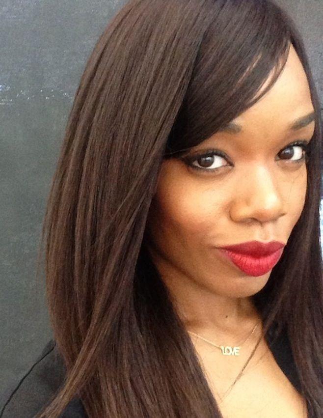 Ruby Woo Lipstick by MAC Cosmetics on dark skinned black ...
