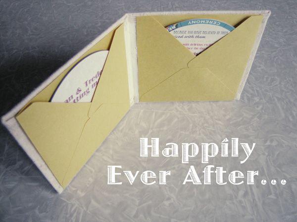 MayDae Wedding Invitation DVD Spinning Wheel Folded Book Twine Vintage Puzzle Piece4