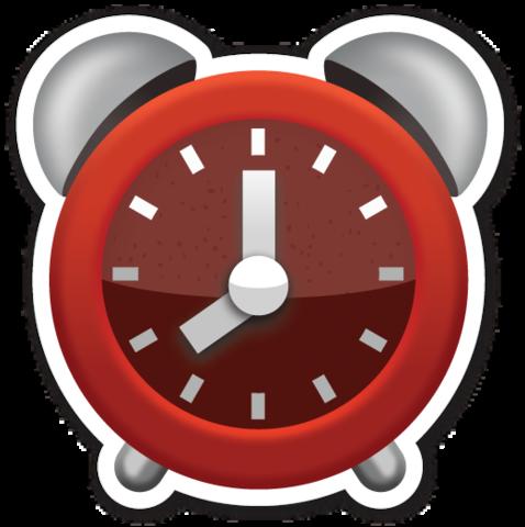 Alarm Clock Adesivos Sticker Molduras Emoji