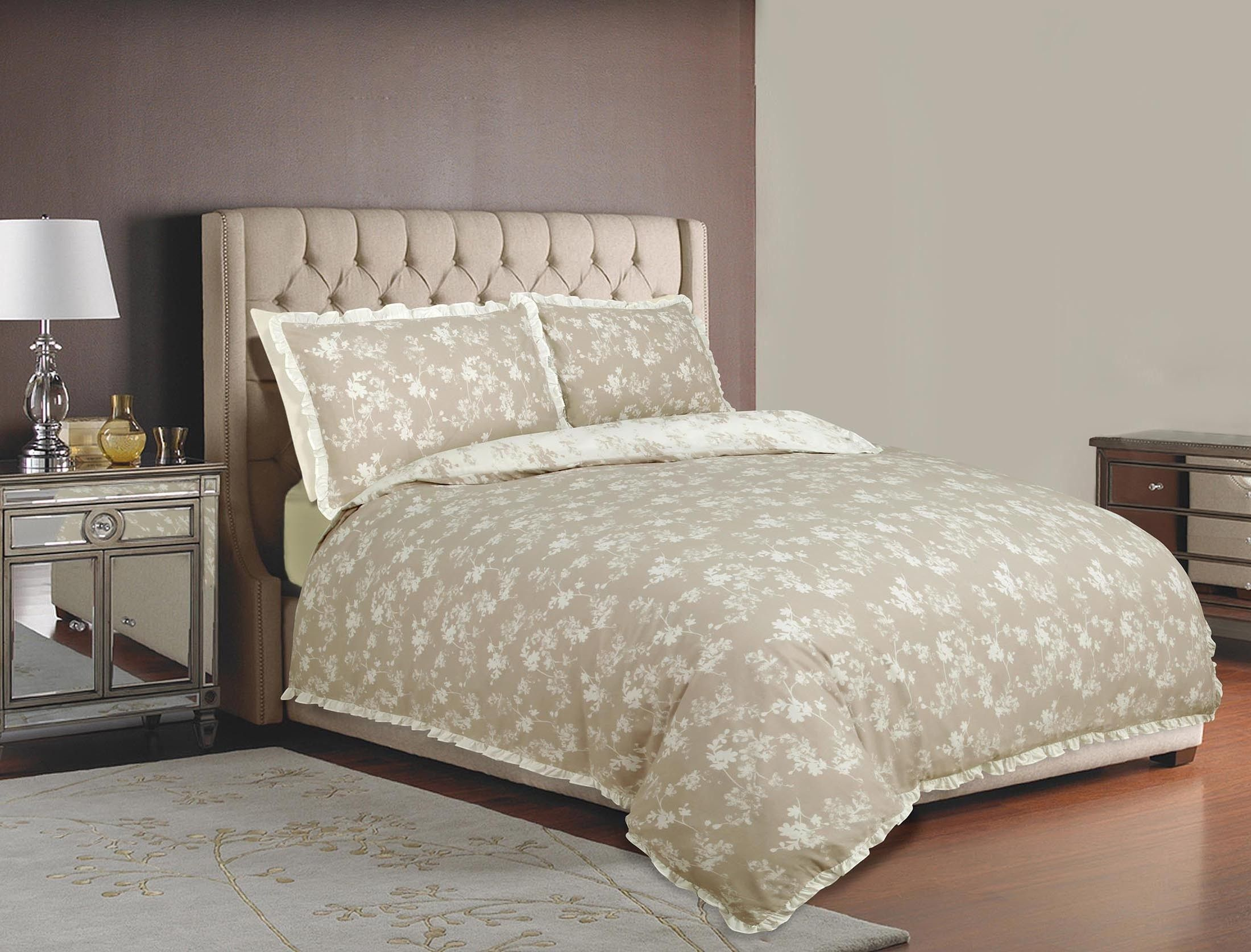 Life From Coloroll Harmony Fl Duvet Set Taupe Ponden Homes