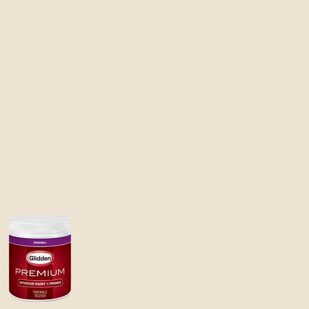 Glidden Premium 8 Oz Hdgwn31 Elegant Ivory Cream Eggshell Interior Paint With Primer Tester
