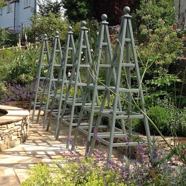 Wooden Obelisk Painted Garden Gallery