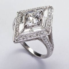 Art Deco Lozenge Diamond Ring