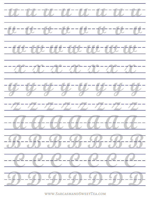 How I Practice Brush Lettering (+ Free Printable Practice Guide ...