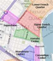 Click Map For Downtown New Orleans Hotels