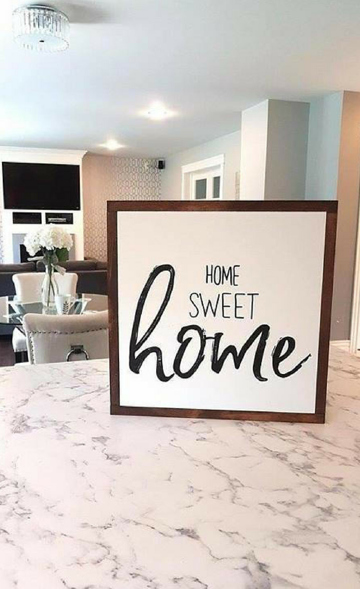 Home sweet home wood sign, 24x24\