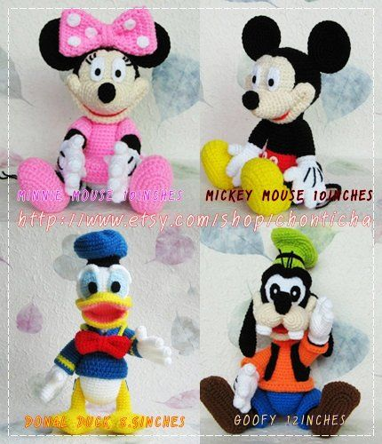 Mickey Mouse And The Gang Pdf Amigurumi Crochet Pattern Knit