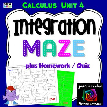 Integration By Substitution Fun Maze And Worksheet Ap Calculus Ab Ap Calculus Calculus
