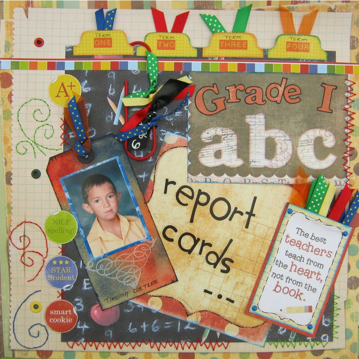 Scrapbook ideas school - Grade 1 Report Cards Scrapbook Com School Scrapbook Layoutsreport