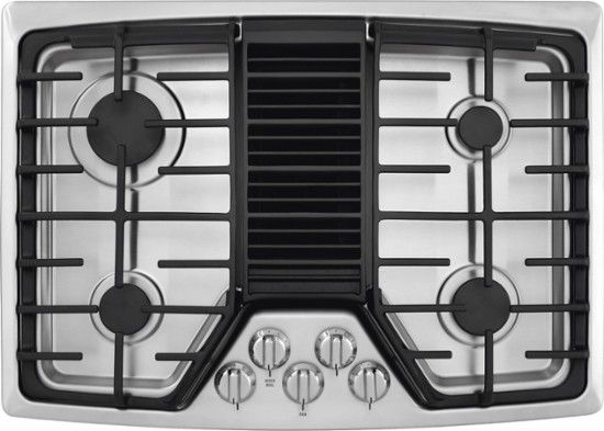Frigidaire 30 Gas Cooktop Stainless Steel Front Zoom Gas Cooktop Stainless Steel Cooktop Cooktop