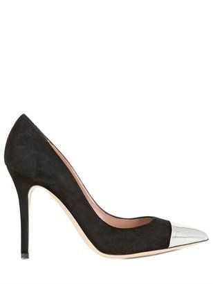 d16fd7504 ShopStyle: Semilla - 100mm Suede And Metallic Leather Pumps | Black ...