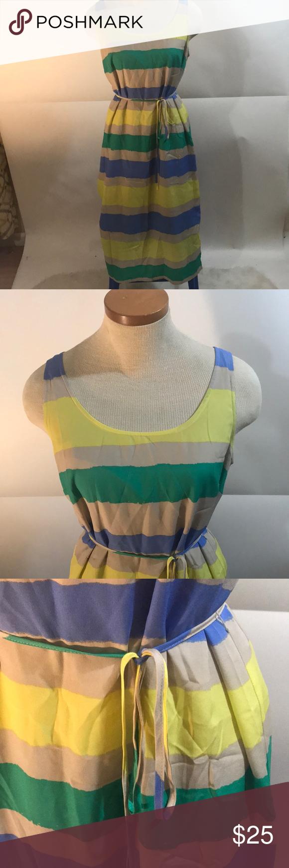 Striped Loft Dress Yellow Tan Blue And Green Striped Dress Dresses Maxi Loft Dress Striped Dress Clothes Design [ 1740 x 580 Pixel ]