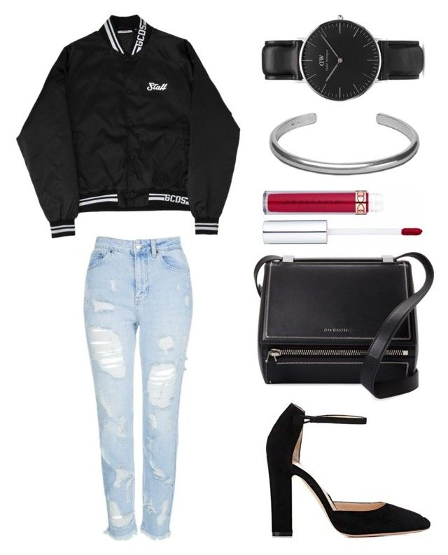 """Untitled #2262"" by ordinarydays ❤ liked on Polyvore featuring Topshop, Gianvito Rossi, Givenchy, Daniel Wellington and Maison Margiela"