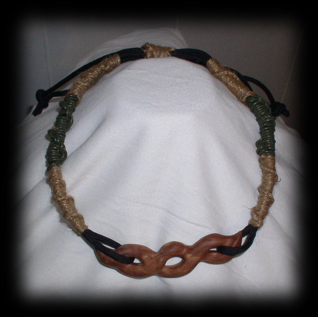 Jwl Artisan Rope And Red Cedar Wood Choker 14 In