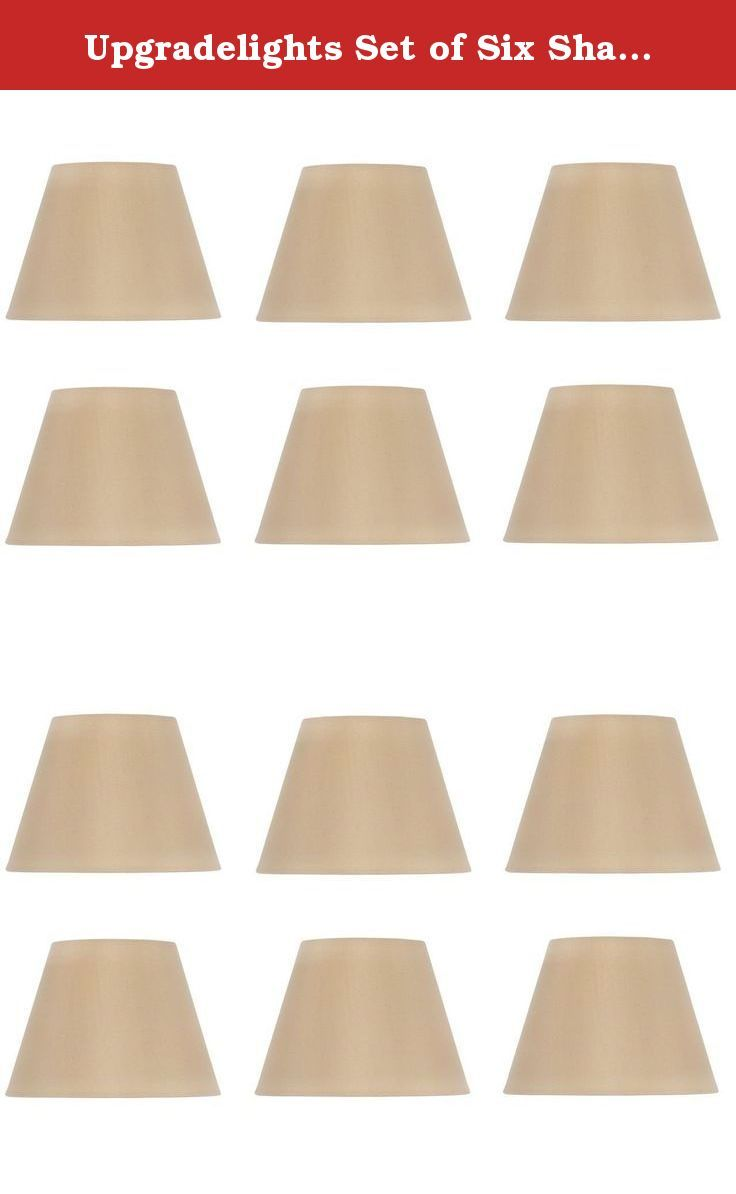 Upgradelights Set Of Six Shades That Are 6 Inch European Drum Style Chandelier Lamp Shade Mini Shade Antique Gold Mini Shades Chandelier Shades Drum Chandelier