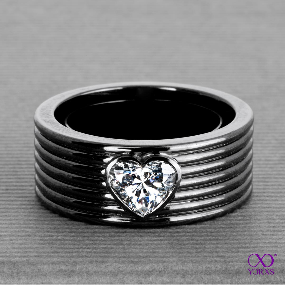 schwarz diamant ring