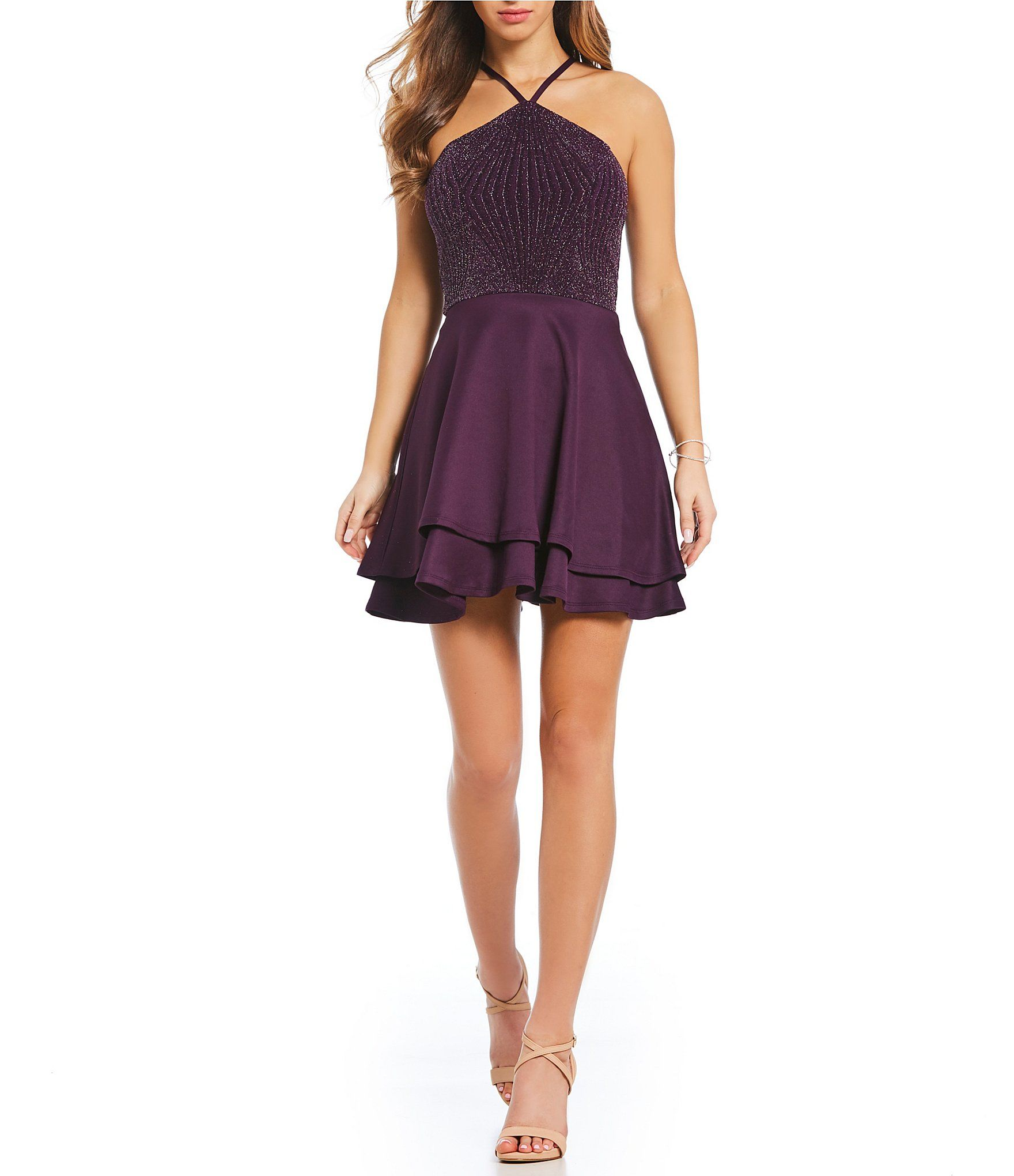 Xtraordinary YNeck FitAndFlare Dress Dillards