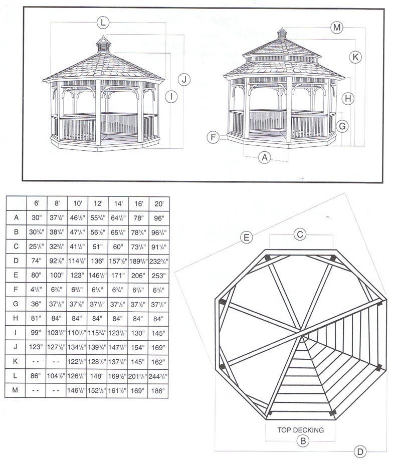 Octagon Gazebo Plans Elegance Of Your Garden Pergola Design
