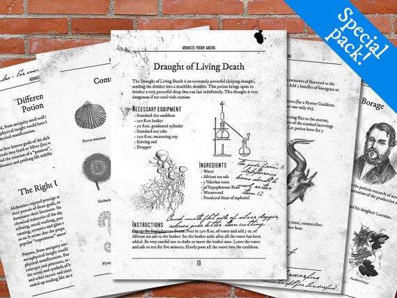 picture about Harry Potter Potion Book Printable known as PRINTABLE Innovative Potion Manufacturing Harry Potter as a result of