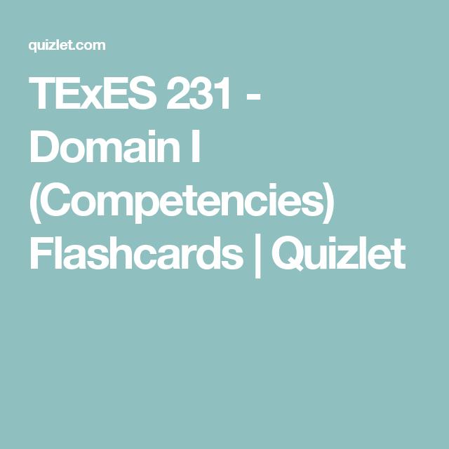 TExES 231 - Domain I (Competencies) Flashcards