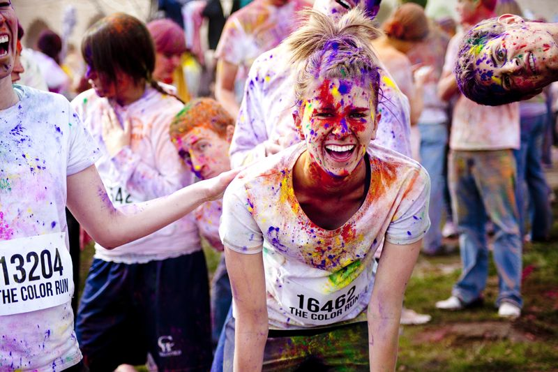 Color run in Chicago.  I so want to do this in Denver!