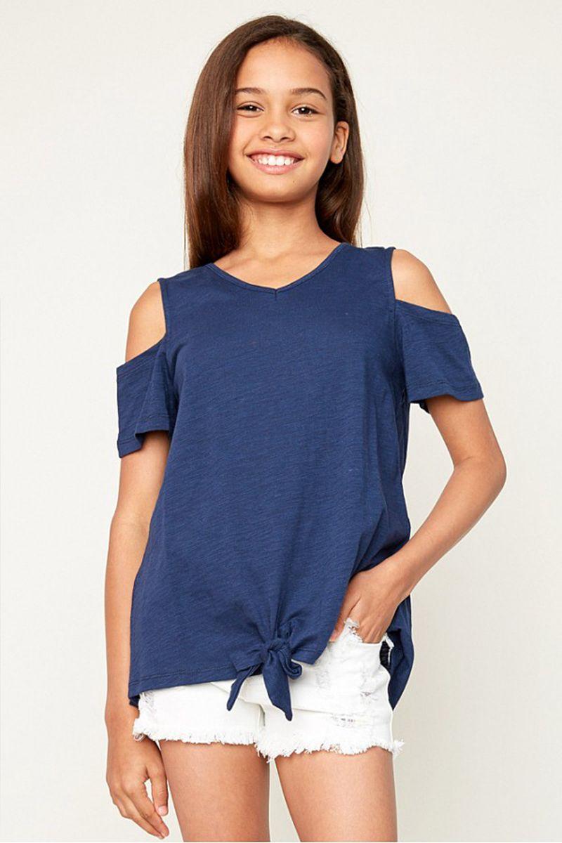 b6139daabcf0 Junior Off-shoulder T-shirts Teenager Fashion cotton Jumper Tops Big Kids  Girls Casual