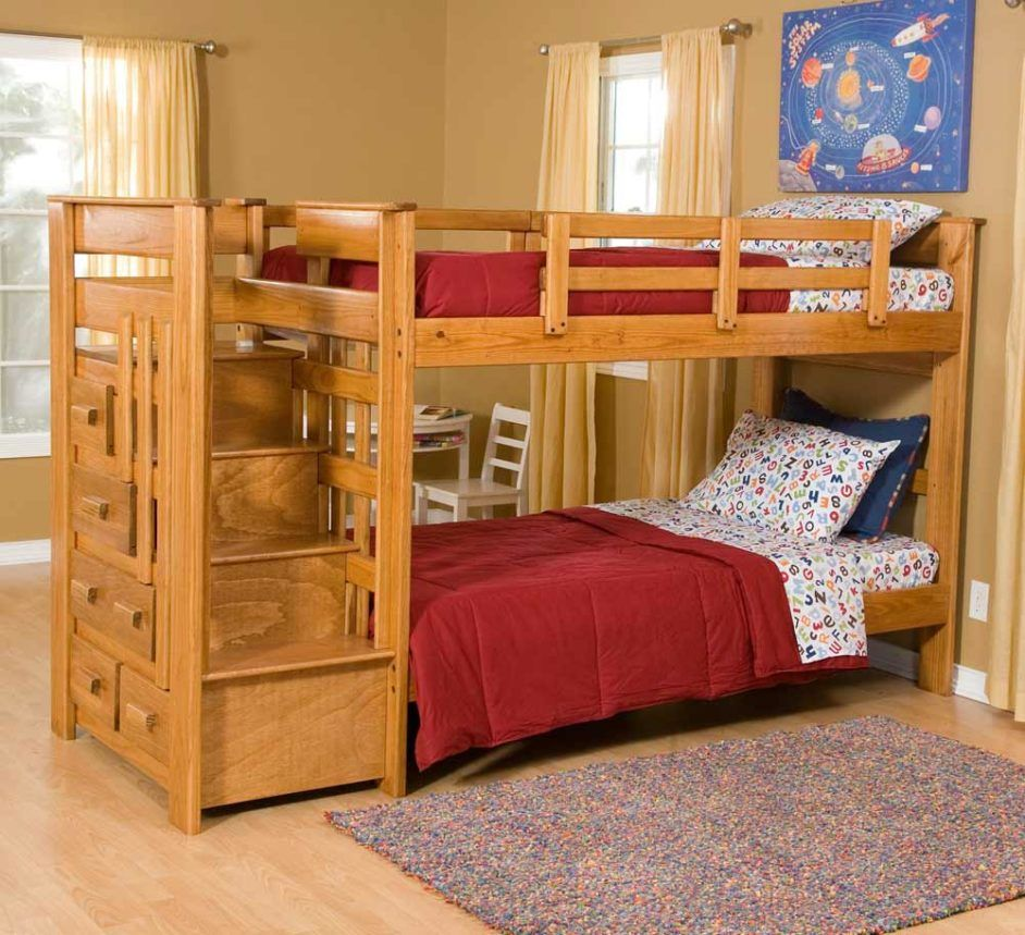 Ikea Wooden Bunk Bed With Drawers And Staircase Cool Bunk Beds Wooden Bunk Beds Bunk Beds