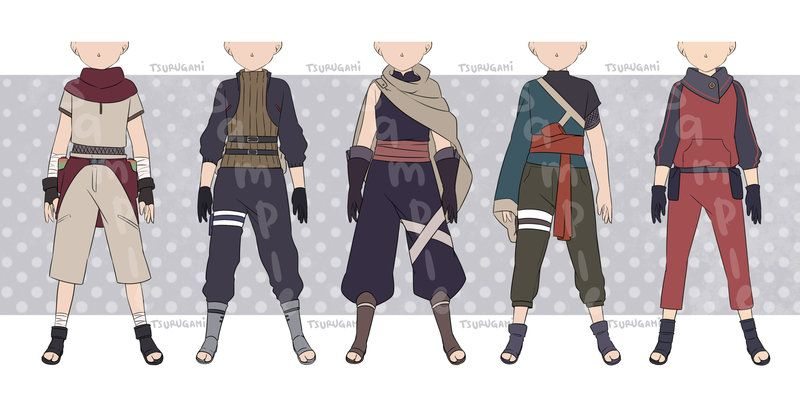 stunning anime ninja outfit male 9