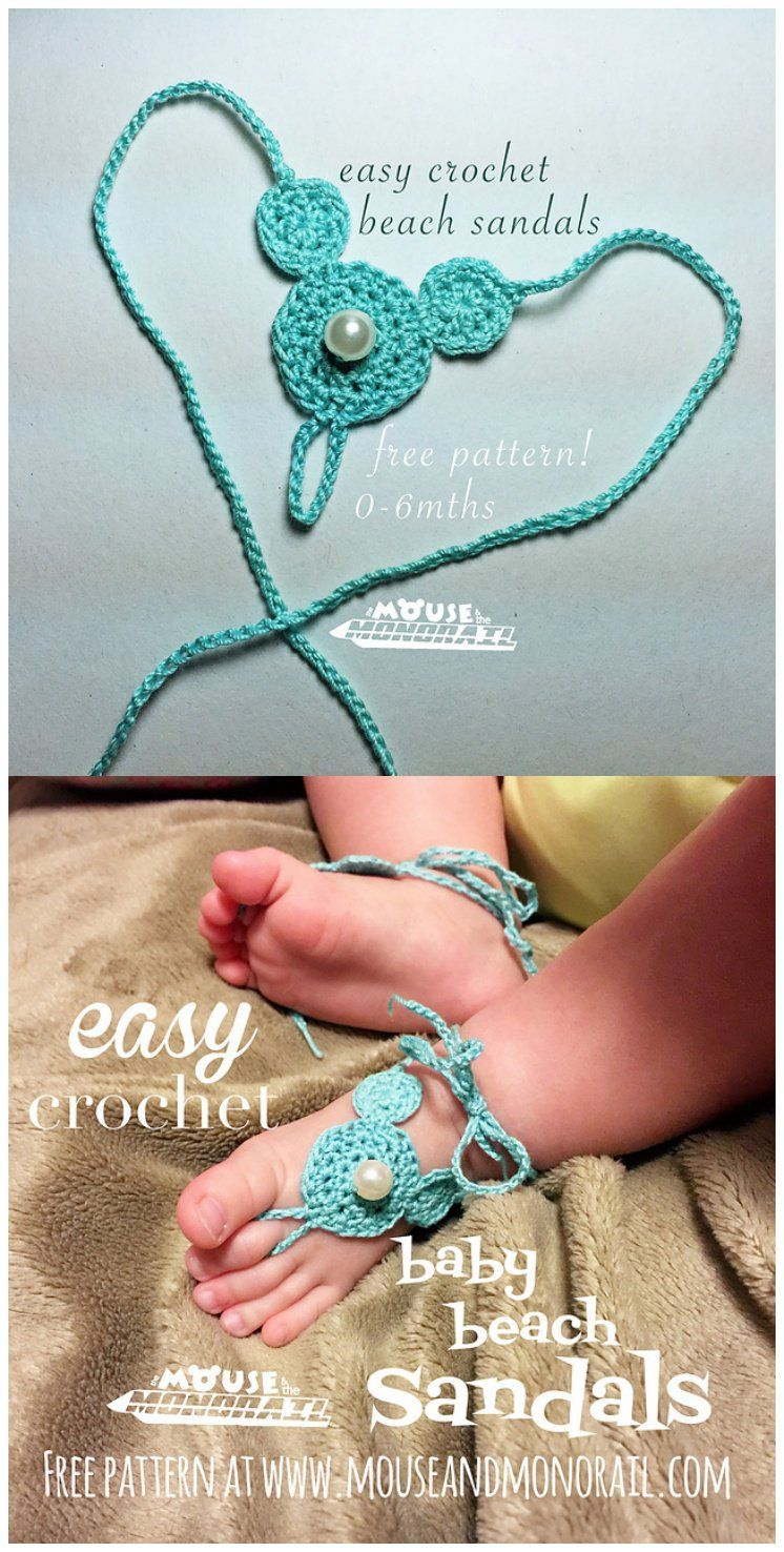 30+ Awesome Crochet Barefoot Sandals Patterns | Barfuß, Sandalen und ...