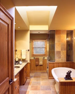 Rift Oak Bathroom Contemporary Bathroom Detroit Cole Wagner Cabinetry