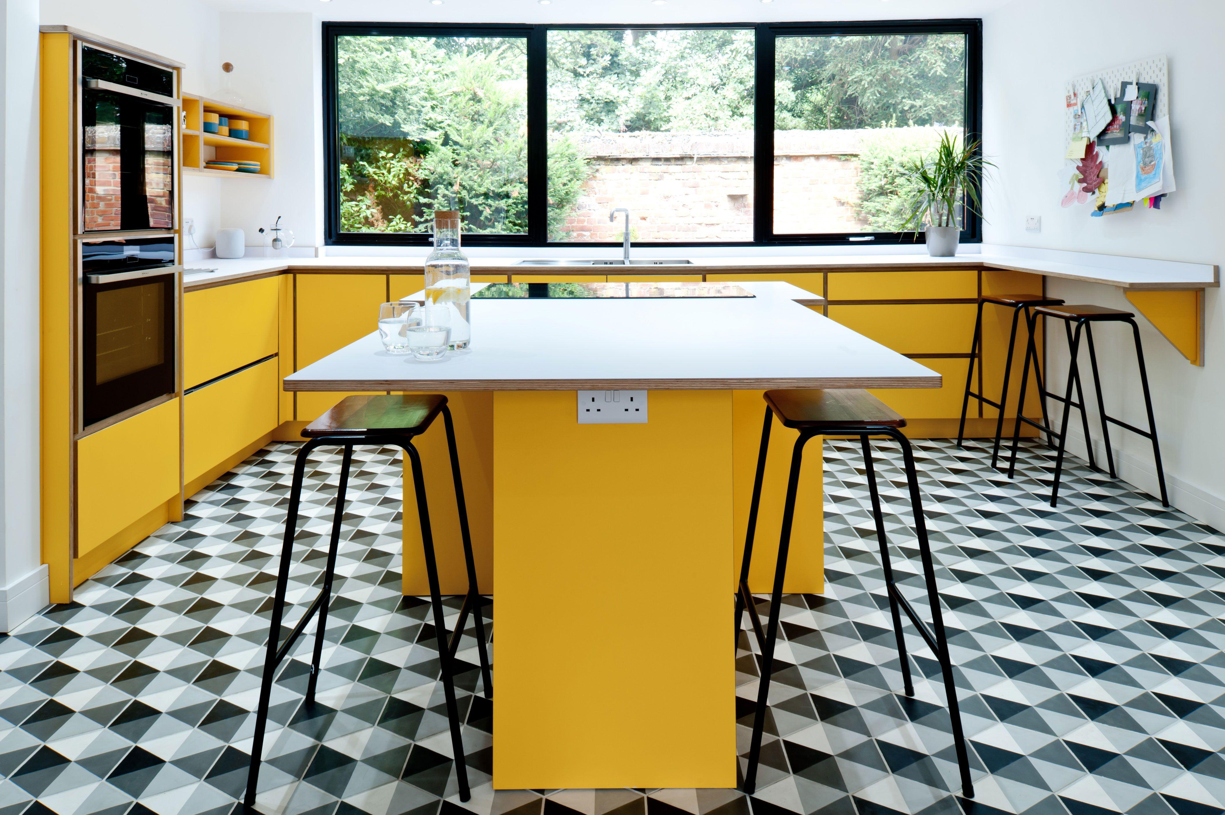 Yellow Contemporary Kitchens YellowKitchen yellowkitchen ...