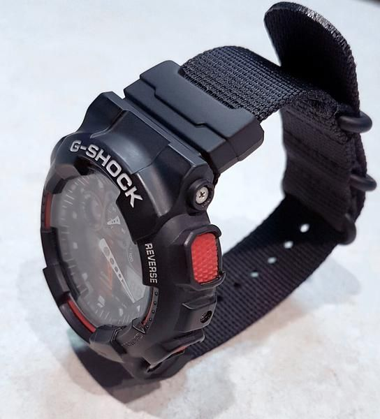 Gshock Ga 100 On Vario S Ballistic Nylon Strap Vario Watch