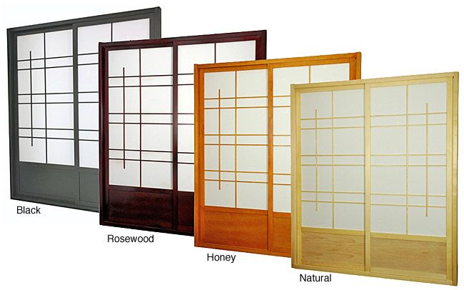Wood and Rice Paper Eudes Shoji Double-sided Sliding Door Kit (China) -  sc 1 st  Pinterest & Wood and Rice Paper Eudes Shoji Double-sided Sliding Door Kit (China ...