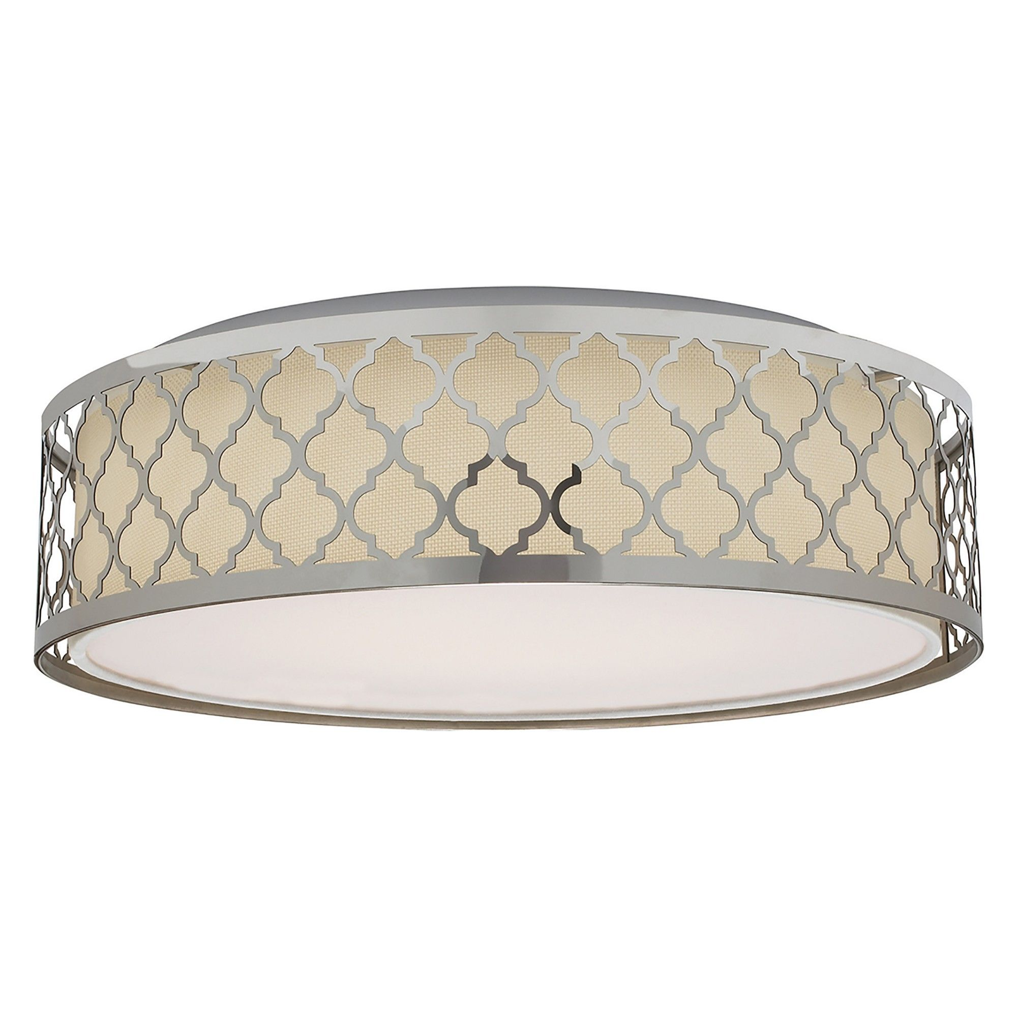 Aurora Lighting 1 Light Polished Flush Mount Ceiling Lights