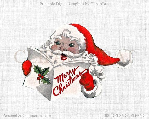 CHRISTMAS Clipart Commercial Use Clipart Retro by ClipArtBrat