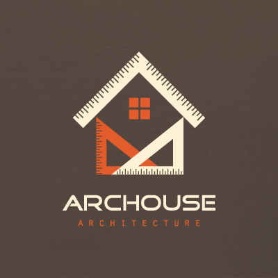 Geometric house architecture Logo Design Gallery