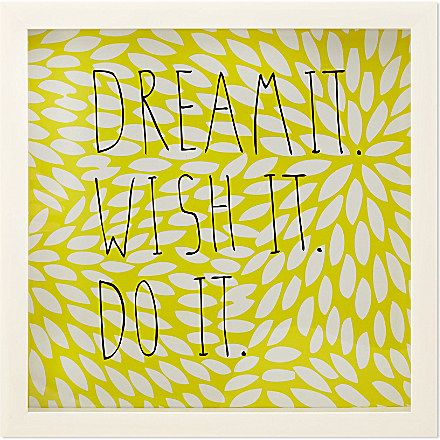 UMBRA Motto Dream It wall decoration