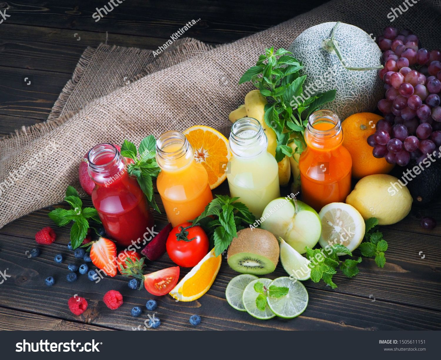 Healthy food juice in different colors Sponsored ,