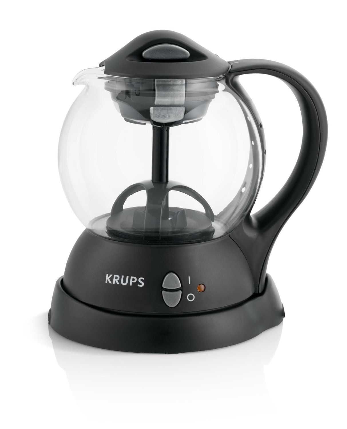 Amazon.com: KRUPS FL701850 Personal Tea Kettle with integrated infusion basket for loose tea and tea bags, Black: Kitchen & Dining