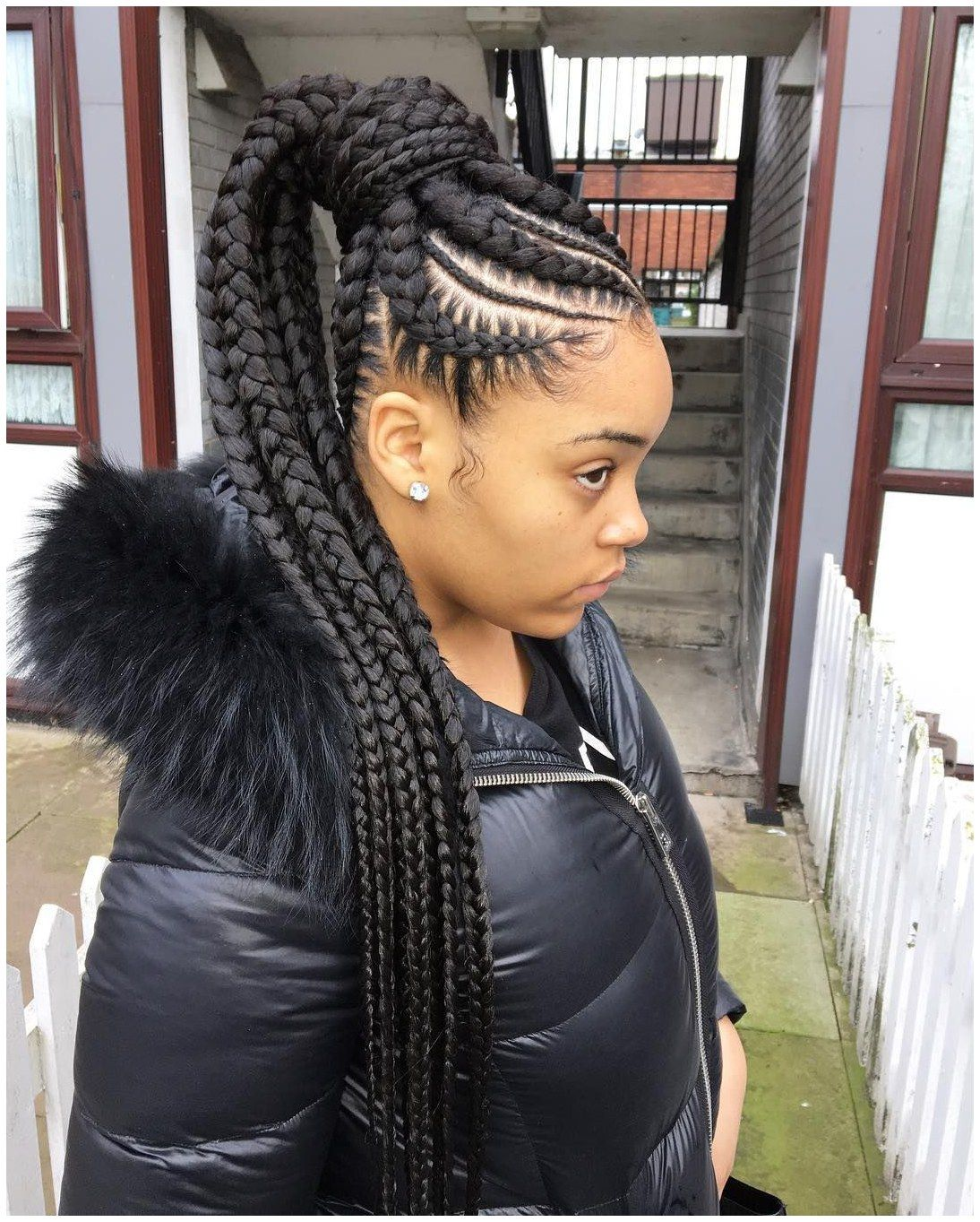 Cornrows Boxbraiding Haircut Nice 45 Breathtaking Hairstyles With Big Box Braids Being Intricately Cool Braid Hairstyles Box Braids Hairstyles Hair Styles