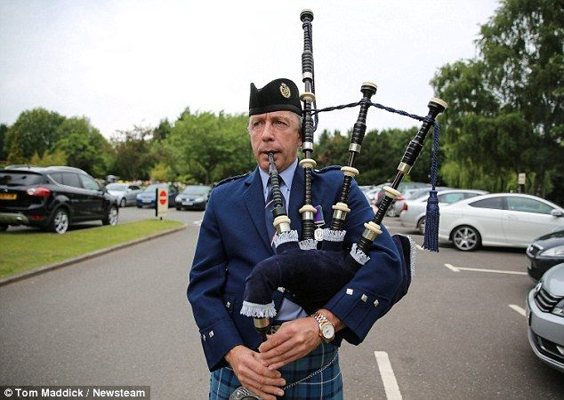 Proud Scot: The Scottish national anthem 'Flower of Scotland' was played as the coffin ent...