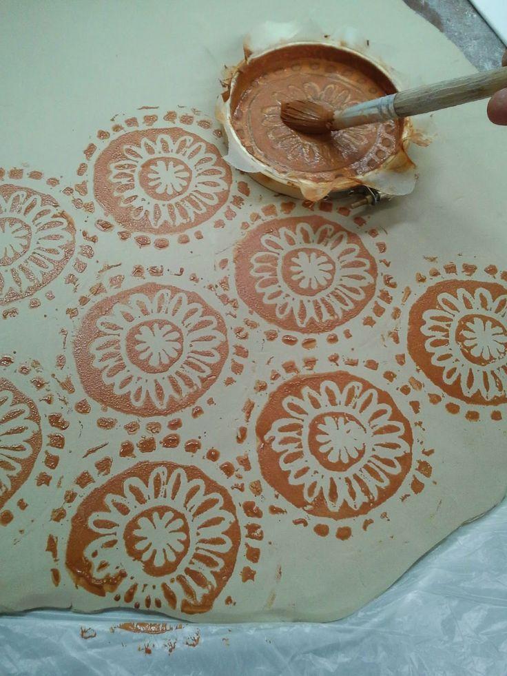 Carrie Ellen Art Studio Screen Printing On Ceramics
