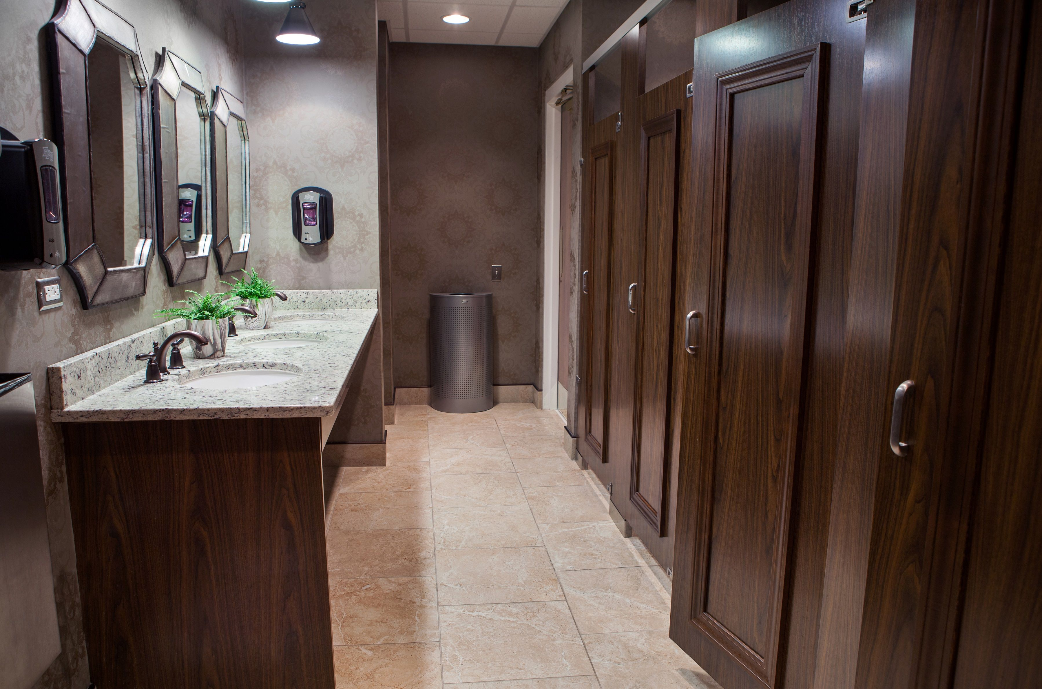 Ironwood Manufacturing All Gender Or Gender Neutral Partitions - Bathroom privacy partitions