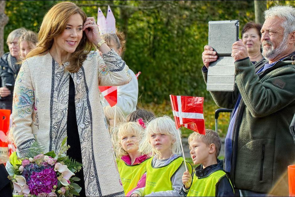 Nouvelle visite dans une ecole Arenaen Skole200 Princesse Mary de Danemark
