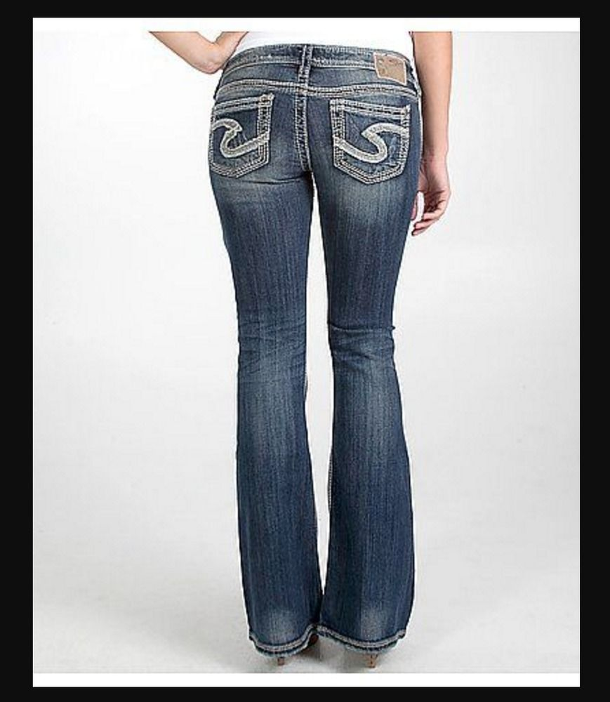 SILVER JEANS SALE Buckle Super Low Rise Tuesday Flare 22