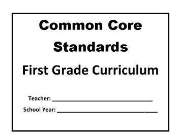 First Grade Common Core Curriculum for ELA, Math, Science