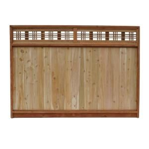 6 Ft X 8 Ft Western Red Cedar Horizontal Lattice Top Fence Panel 54111 At The Home Depot Fence With Lattice Top Fence Panels Lattice Fence