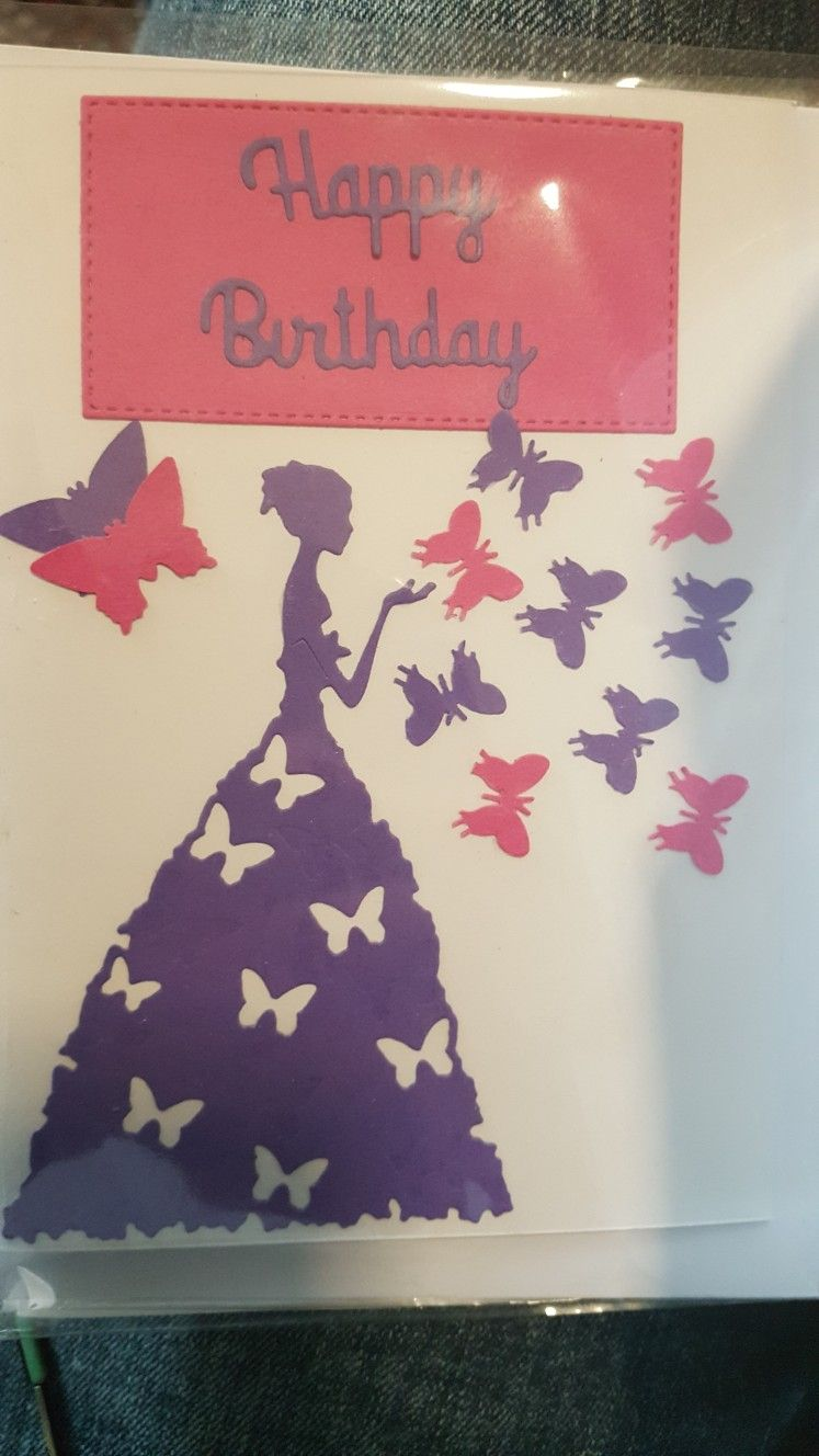 handmade butterfly birthday card  butterfly birthday