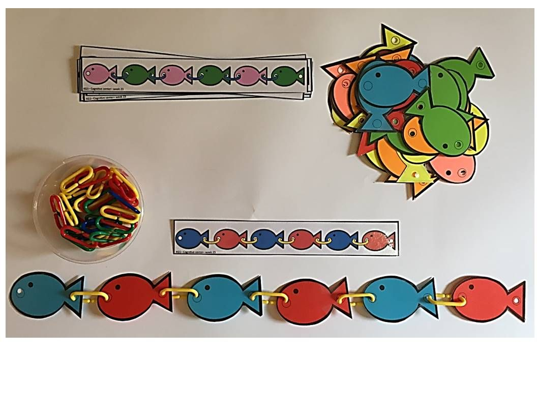 Teaching Patterns Using Linking Chains Ocean Animals And